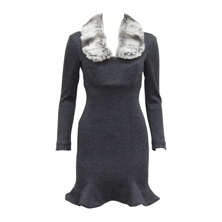Vivienne Westwood Corseted Woollen Dress With Faux Fur Collar, c 1990s