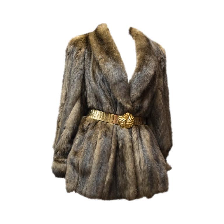 Karl Lagerfeld Sable Fur Coat.  1