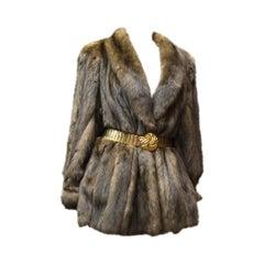 Karl Lagerfeld Sable Fur Coat.