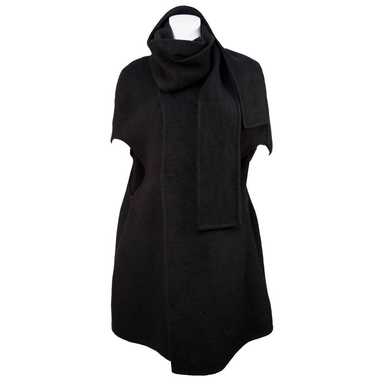 RICK OWENS black cashmere cape coat  1