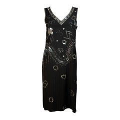 GIORGIO BEVERLY HILLS Sequin Embellished Deco Inspired Cocktail Dress Size 4-6