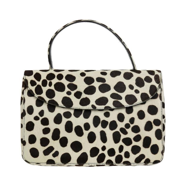 Prada Leopard Pony Hair Flap Handbag 1