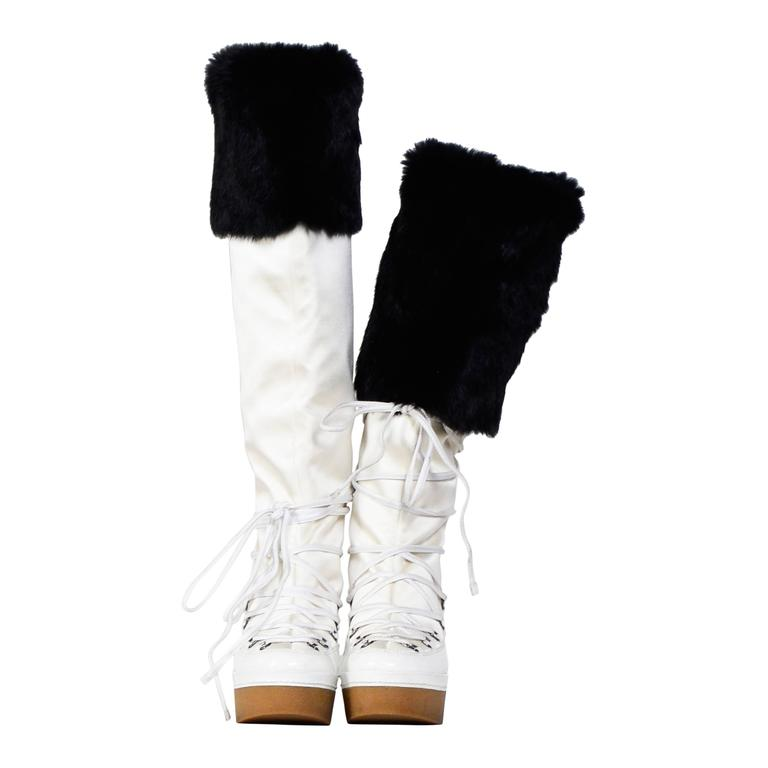 GIVENCHY / Alexander McQueen White & Black Snow-Boots 1