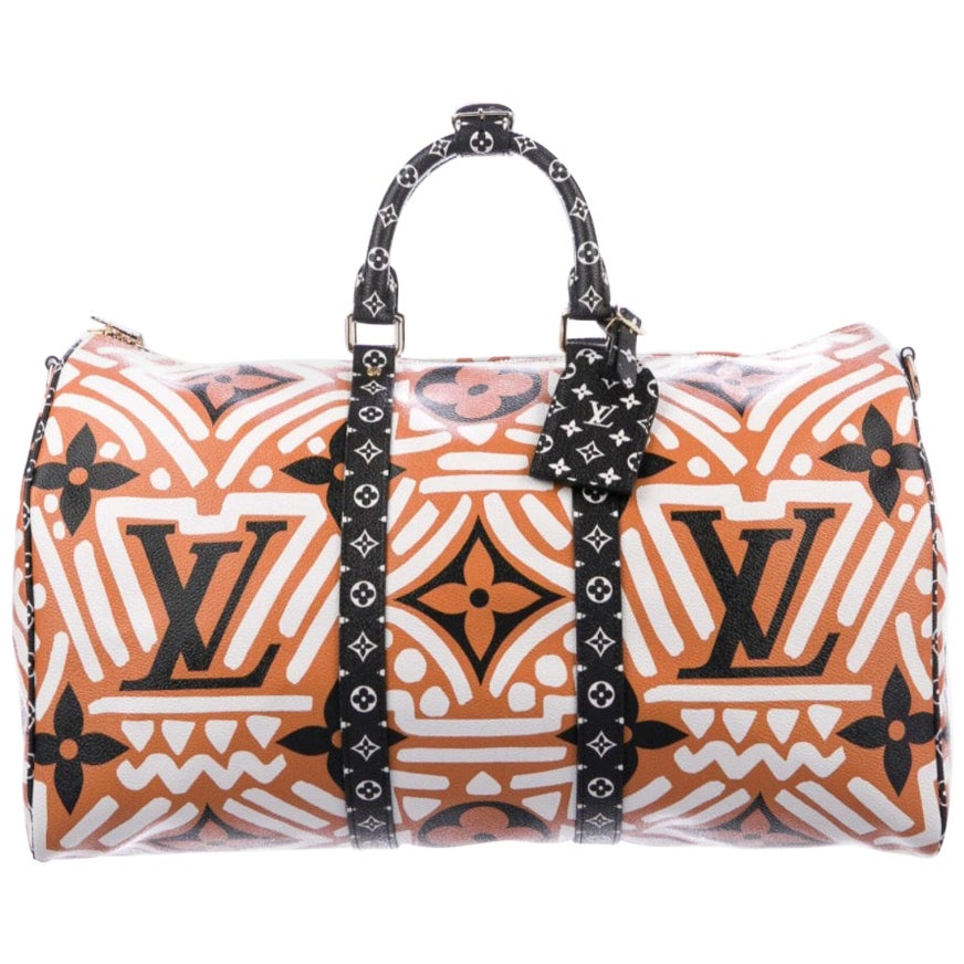 Louis Vuitton NEW Orange Brown Men's Carryall Travel Weekender Duffle Bag in Box