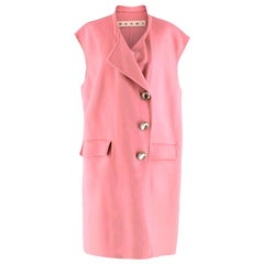 Marni Pink Sleeveless Wool Blend Coat - Size US 6