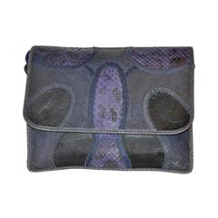 Rare Carlos Falchi Multi-Skins Multi-Color Large Shoulder Bag & Clutch