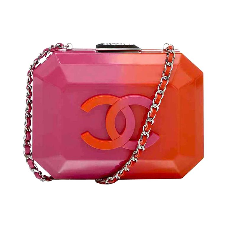 Chanel Pink And Orange Box Bag For