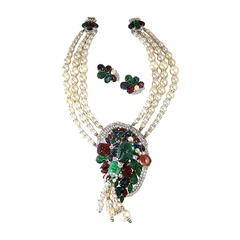 One of a Kind Robert Sorrell Fruit Salad Necklace and Earrings