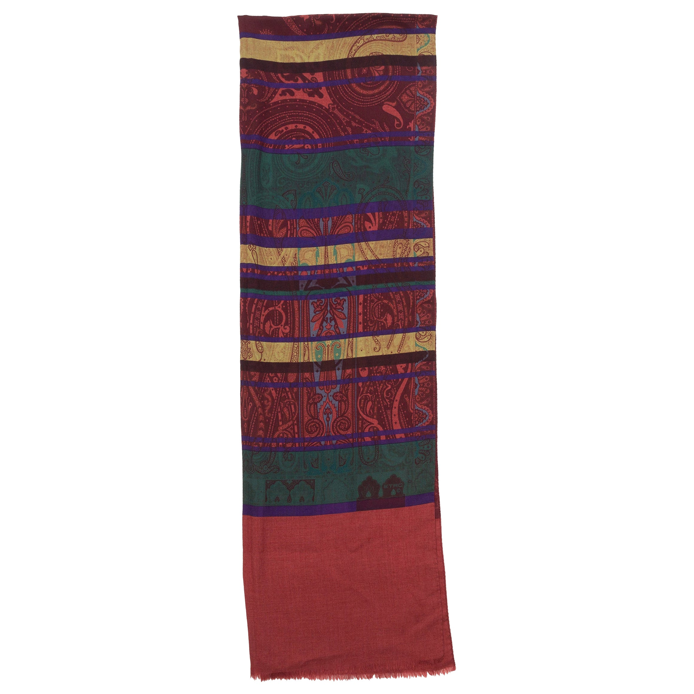 Etro Red & Multicolor Paisley Print Scarf