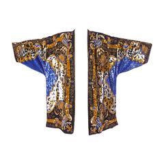 Extraordinary Vintage Sequin + Beaded Silk Flapper Kimono Jacket or Duster