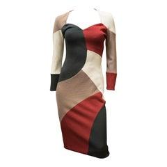 Geometric Knit Missoni Bodycon Dress