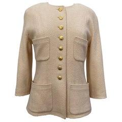 Chanel Cream Vintage Blazer