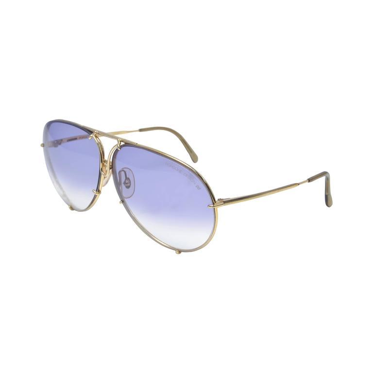New 1980s Porsche Design by Carrera Gold frame Sunglasses ...