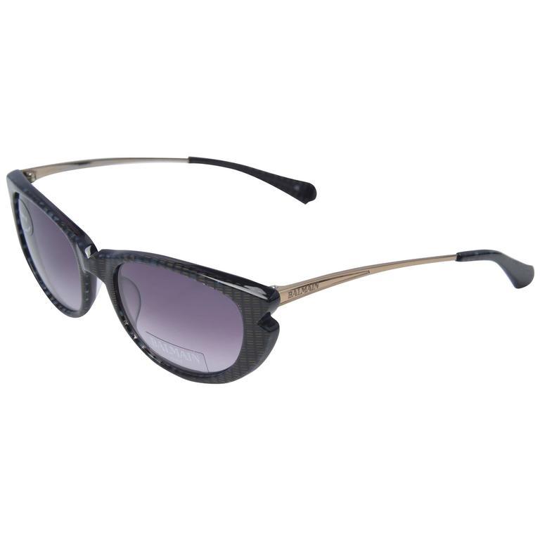 Balmain Paris Cat Eye Sunglasses with Case and Original Box