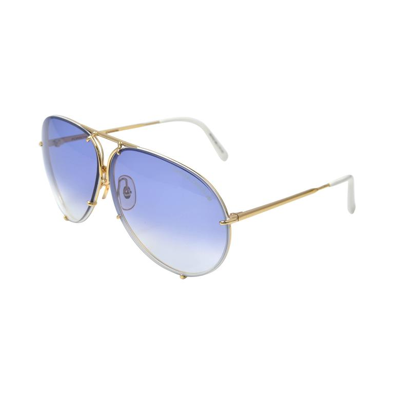 7031005a10 1980s Porsche by Carrera 5621 Aviator Sunglasses with Case and Lens For  Sale at 1stdibs
