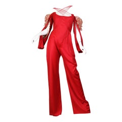 """1990S ALEXANDER MCQUEEN Style Red Cotton Spring 2002 """"Dance Of The Twisted Bull"""