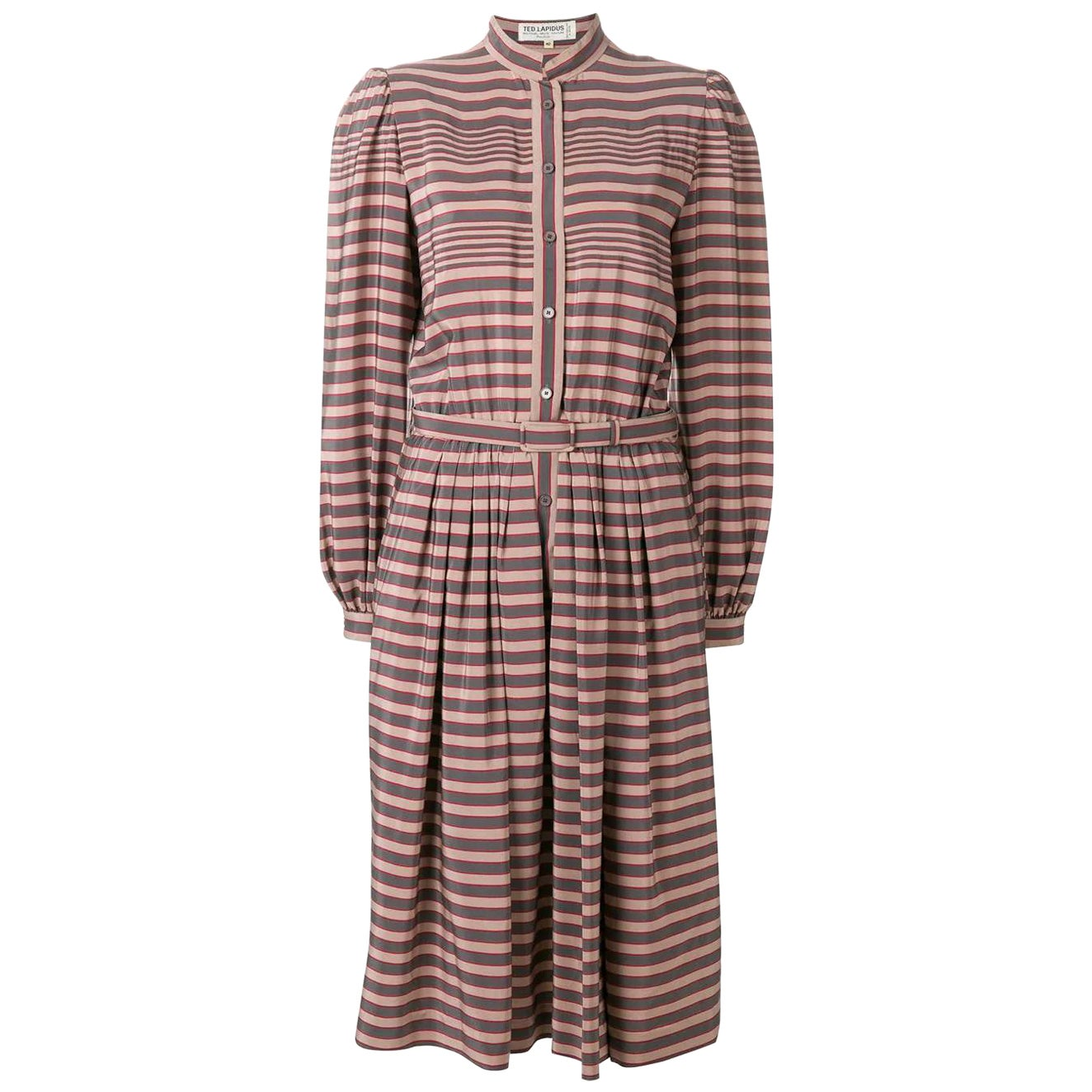 1970s Ted Lapidus Striped Dress