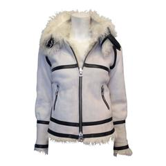 Isabel Marant White Shearling Jacket Size 0