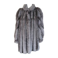 Blue Grey Mink Fur coat