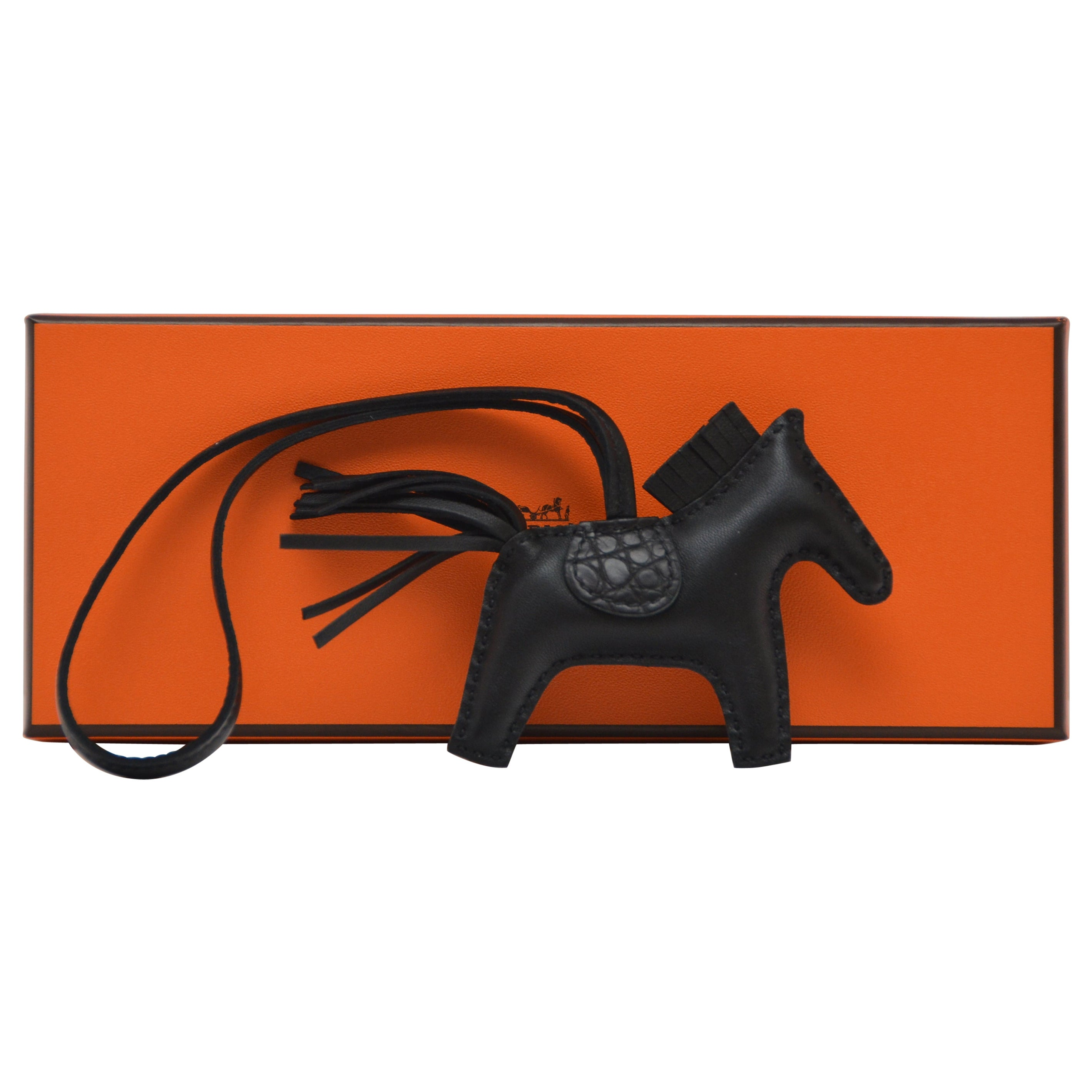 """Hermes SO BLACK  """"Touch""""  Rodeo  Charm  PM Size   NEW"""