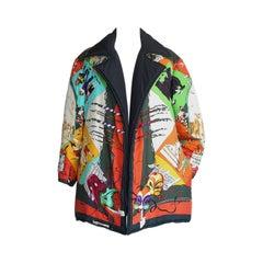 Hermes Jacket Le Carnavale de Venise Vivid Rich Reversible Scarf Print 36 / 6