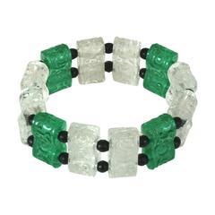 Art Deco Glass Bracelet