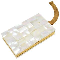 1950's Evans Mother Of Pearl Compact Carryall Case