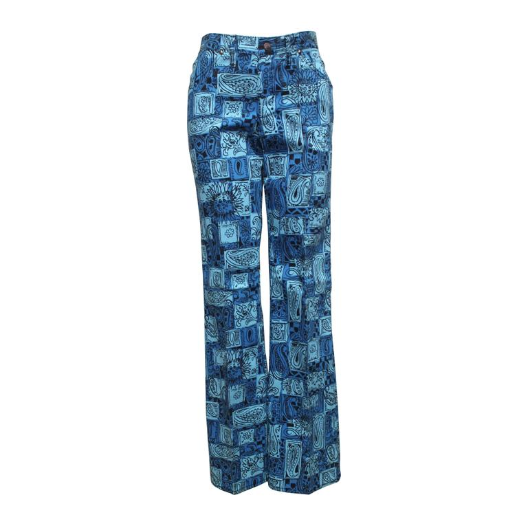 1970s Paisley Pattern Dead Stock Flares