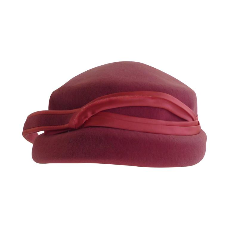 Richard Original Pink Felt Hat, 1950s