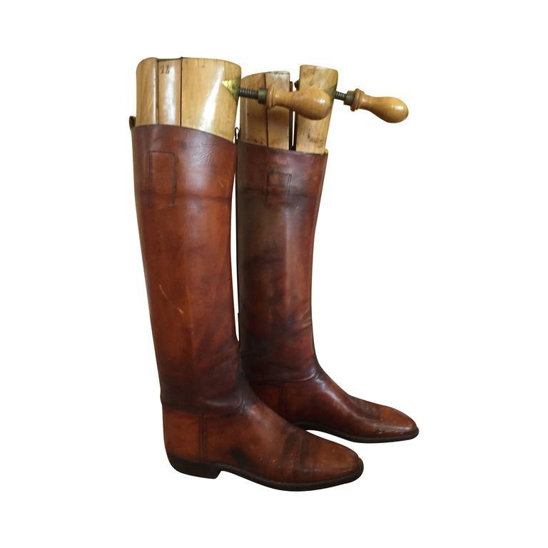 English Riding Boots 1900 J Coquillot At 1stdibs