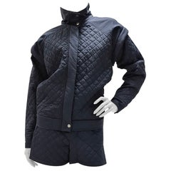 Chanel Quilted Jacket Shorts Suit