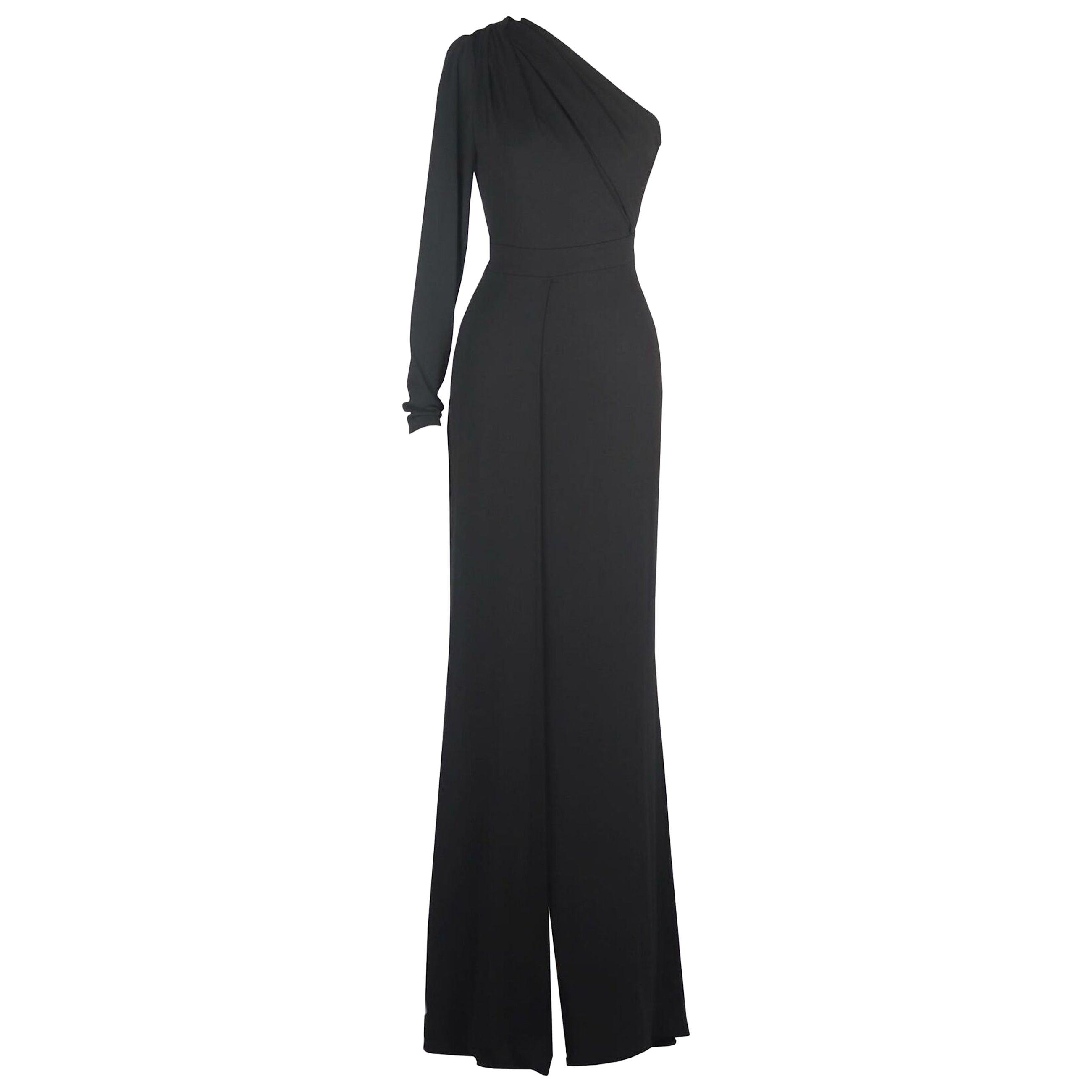 Elie Saab One Shoulder Stretch Jersey Gown