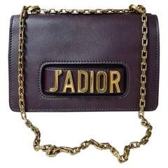 Christian Dior Burgundy Smooth Calfskin Leather J'ADIOR Shoulder Bag