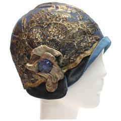 1920s Blue Cloche Hat