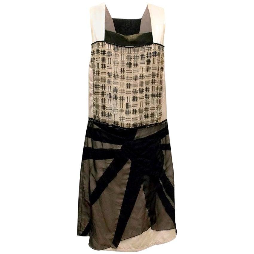 Bottega Veneta Black & Champagne Dress US 8