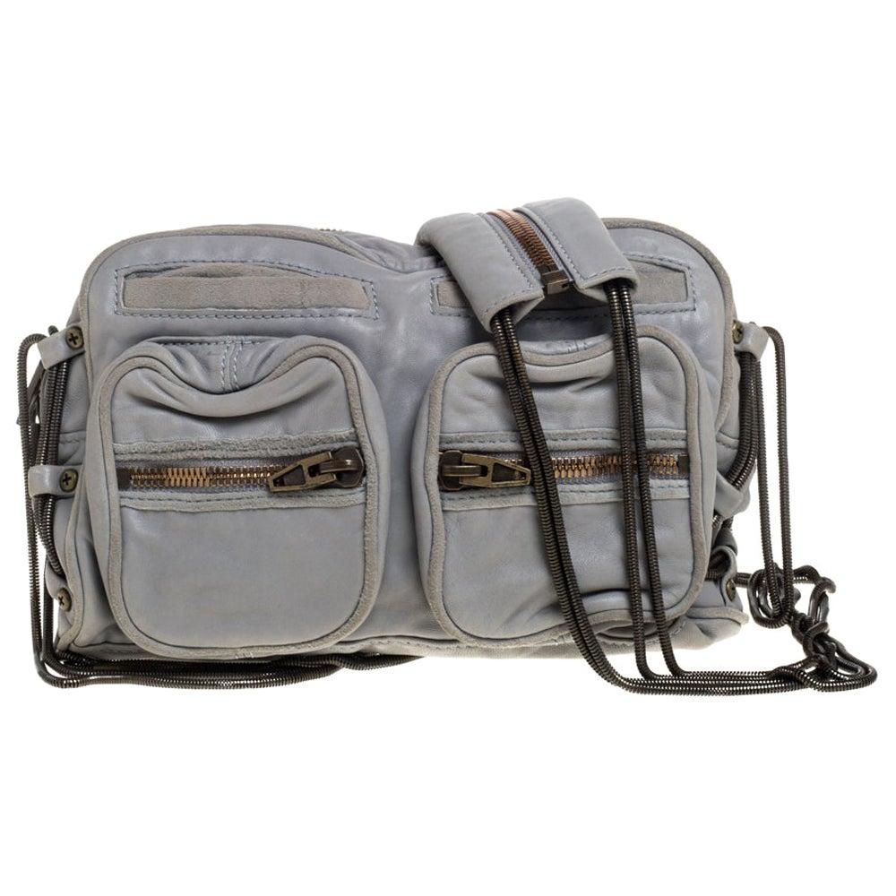 Alexander Wang Grey Leather Brenda Shoulder Bag