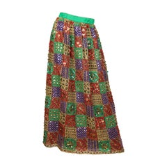 Malcolm Starr Fully Beaded and Embroidered Maxi-Skirt
