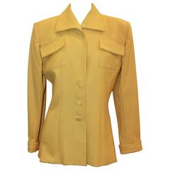 Norma Kamali 1980's Vintage Mustard Wool Jacket - 10