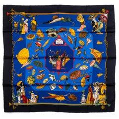 Hermes Collectible Umbrellas Silk Scarf