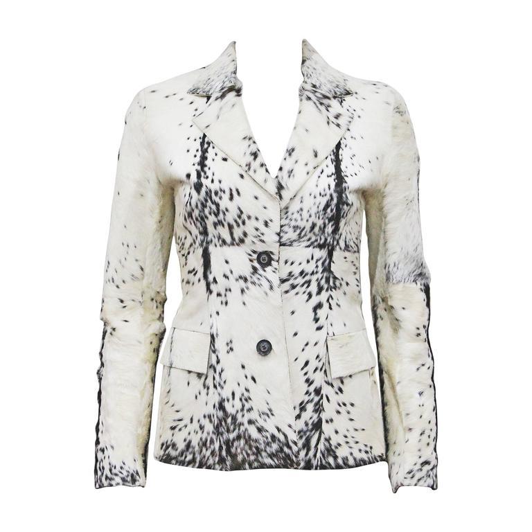 Gucci by Tom Ford goat hair blazer jacket, c. 1999