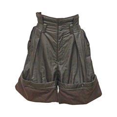 Issey Miyake oversized nylon turn-up shorts, c. 1980s