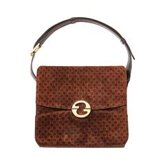 Gucci Suede Shoulder Bag Late 70's