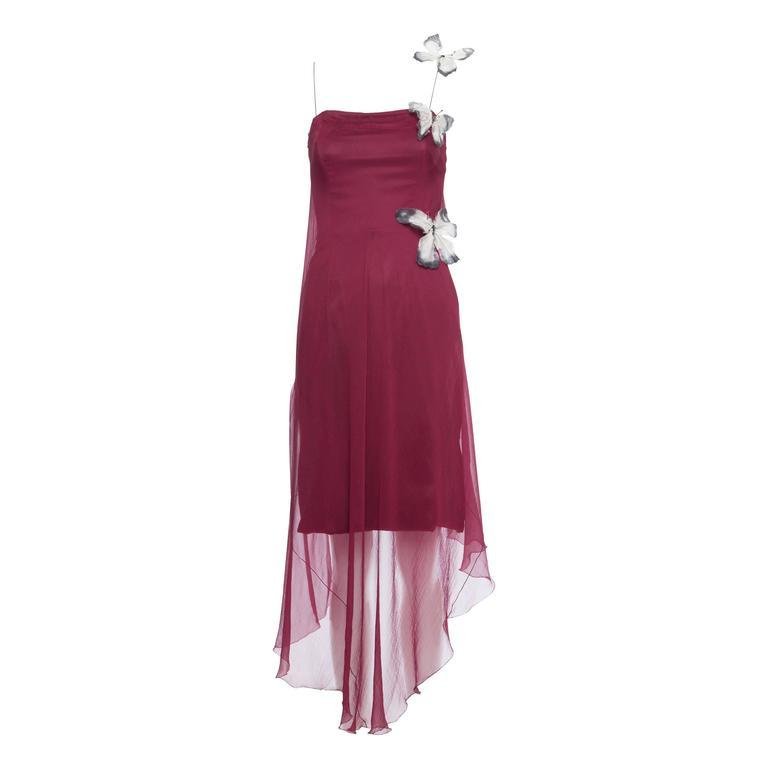 Dolce & Gabbana Stromboli Collection Silk Chiffon Dress, Spring - Summer 1998