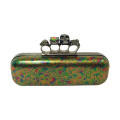 Alexander Mcqueen Oil Slick Knuckle Duster Box Clutch