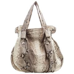 Zagliani Soho Large Python Handbag