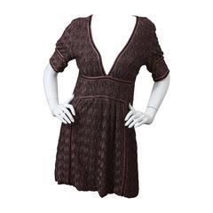 Missoni Signature Patterned Knit Tunic Dress
