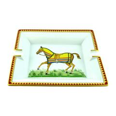 Hermes Equestrian Large Porcelain Cigar Ashtray Pin Tray