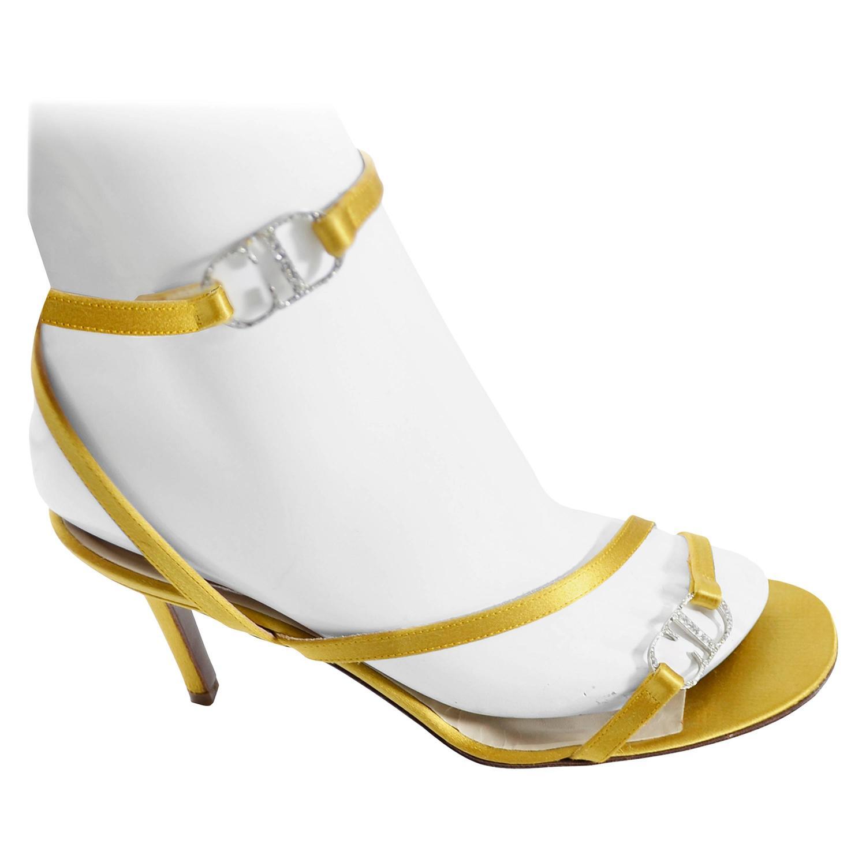 Gold Vintage Christian Dior Shoes Ankle