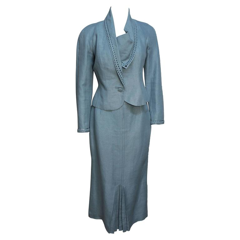 John Galliano Lovely Draped Womens Suit