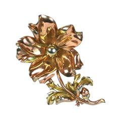 Large Trifari Retro Poppy Brooch